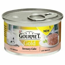 Gourmet Gold Savoury Cake Adult Cat Salmon 85g (PACK OF 2)