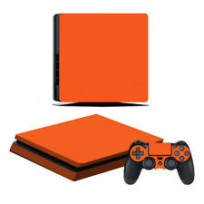 Playstation 4 Slim Konsole Designfolie Skin Schutzfolie Folie Schutz Orange