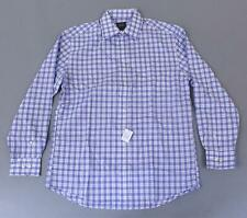 Jos. A. Bank Men's Traveler Collection Check Sportshirt MC7 Light Blue Medium