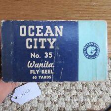 New listing Ocean City Wanita 35 fly fishing reel box only (lot#6601)