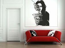 Wall Vinyl Sticker Decals Mural Room Design Art Girl Skeleton Flowers bo608