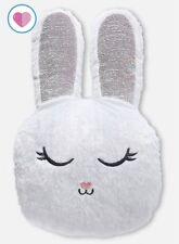 Girls Justice Snow Bunny Flip Sequin Pillow Easter Stuffed Animal Big Plush 24�