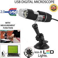 10MP 1000X 8LED USB 2.0 Digital Microscope Endoscope Zoom Camera Magnifier+Stand