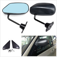 Pair Car Universal F1 Style Vintage Carbon Fiber Surface Car Racer Side Mirrors