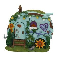 New Fairy Garden House - Sky Blue Fairy Caravan - Fairy Garden cottage - 16cm
