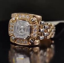 18 Kt Real Solid Yellow & White Gold Size 8,9,9.5,10,11 CZ Engagement Men's Ring