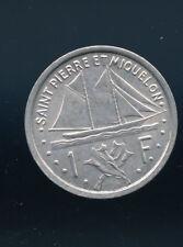 RARE 1948 Saint Pierre Et Miquelon 1 Franc SCARCE 1 YEAR TYPE E479
