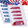 Dental Toothbrush Travel Kit Ties Floss Wax Orthodontic Blue Red AZDENT US