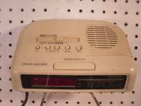 ICF-C25 Sony Dream Machine Digital AM/FM LED Clock Radio raised buttons controls