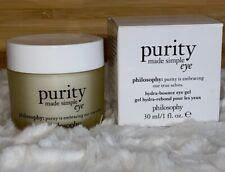 NEW Philosophy Purity Made Simple Hydra Bounce Eye Gel 1 Fl Oz / 30ml