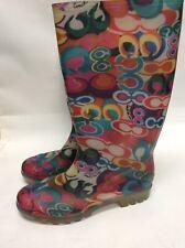 Multi Color Coach Rubber Rain Boots Size 7 Women's Preowned