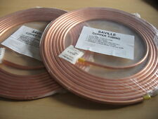 2 X 8MM OD x 7.5MTR SAVILLE SOFT SEAMLESS EASY FLARE COPPER FUEL PIPE TUBING NEW