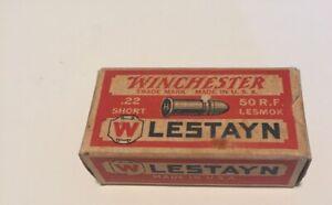 "Winchester ""LESTAYN""  .22 Short Cartridge Box"