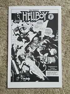 HELLBOY 4 page B&W Comic  VERY Early Appearance!    MIKE MIGNOLA!    JOHN BYRNE!