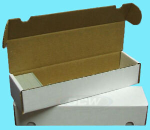 1 BCW 800 COUNT CARDBOARD CARD STORAGE BOX Trading Sports Case Baseball Pokemon