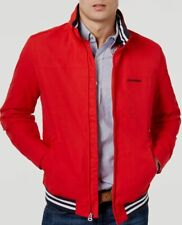 $298 Tommy Hilfiger Men Red Regatta Logo Hooded Zip Coat...