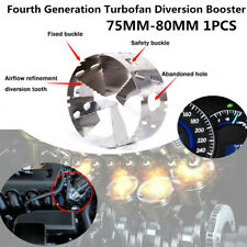 1PC 75-80MM Fourth Generation Car Turbo Diversion Fuel Gas Saver Oil Accelerator