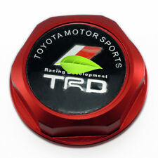 Racing M37x3.0 Thread TRD Engine Oil Filler Cap Cover For LEXUS SCION TOYOTA RED