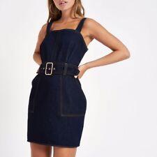 gorgeous denim dress skirt belted size 8 small kookai bardot sheike