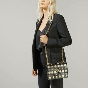 BNWT Kurt Geiger London Shoreditch Black Embellished Women's Xbody bag RRP £229