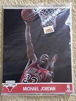 MICHAEL JORDAN 1990 Hoops NBA Action Photos 8x10 Chicago Bulls Red Sealed