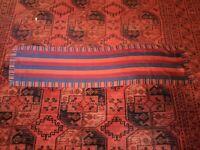 Anne Klein vintage VTG rare 70's red cream chevron stripe silk scarf wrap