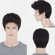 Handsome Boys Wigs Men's Short Layers Synthetic Hair Cosplay Party Daily Wigs