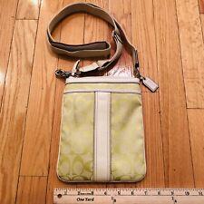 Coach Green Signature Swingpack Crossbody Bag