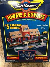 Vintage Micro Machines Cars Hiways & Byways Set #6 Railroad Central Sealed RARE