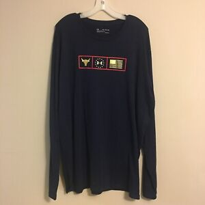 Under Armour Men's Project Rock Respect Graphic Long Sleeve 3XL 1346108-408