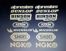 Motocross Pegatinas de vinilo. patrocinadores, Super Bike, vientre PAN SUPER MOTO MARCAS LOGOTIPO