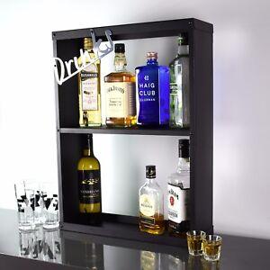 Drinks Cocktail Spirits Wine Shelf Shelving Cabinet Storage Rack Wall Mountable