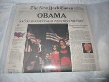 Vacuum Sealed 2008 11-5-08 November Election Obama New York Times Late Edition