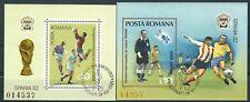 Rumänien - Fußball WM Spanien Block 184-185 gestempelt 1981 Mi. 3843-3844