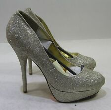 "new Gold 6""Stiletto High Heel 1.5"" Platform Round Toe Sexy Shoes women Size 10"