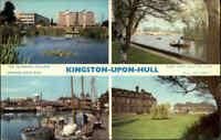England Postcard ~1970 Mulit-View Kingston-Upon-Hull Postkarte Ansichtskarte