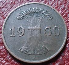 1930-A GERMANY 1 PFENNIG IN VF CONDITION