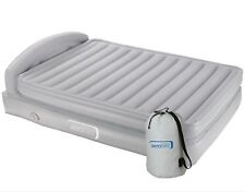 Aerobed Comfort Raised King Size Airbed With Headboard Inflatable Guest Bed
