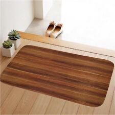 60x40CM Wood Grain Kitchen Bathroom Floor Rug Home Door Mat Rug Non-Slip Carpet
