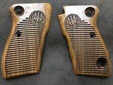 Beretta M 1951 walnut wood grips Helwan 951 tariq brigadier unoiled grip set