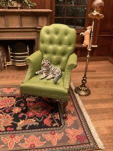 Dollhouse Miniature Artisan Signed Liz Mierzejews cat (r)