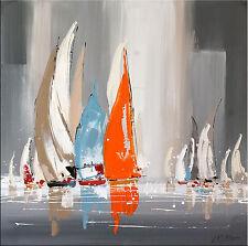 Abstrakte Acrylmalerei  - Sailing Regatta I von Martin Klein - Wandbild