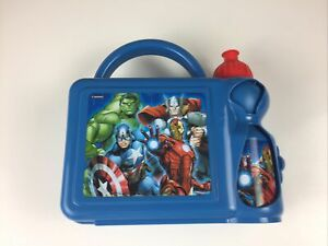 Avengers Blue Combo Set Lunch Box Sports Water Bottle Kids School Picnic Set