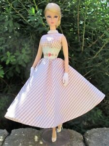 La Boutique Fashion for Barbie Checked Summer Dress and White Shoes