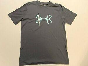 Under Armour New Fish Hook Logo Cotton Fishing T-Shirt Men's Large