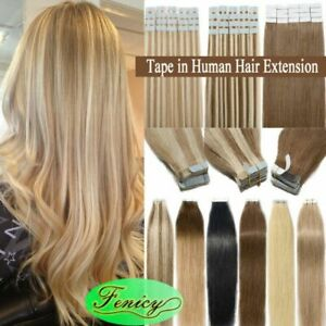 Adhensive Tape in Human Hair Extensions Invisible Glue Skin Weft 100% Remy Hair