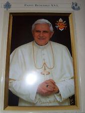 AUTOGRAFO biglietto riproduzione Papa Benedetto XVI