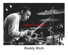 Buddy Rich Jazz Drums 8x10 B&W Publicity Photo