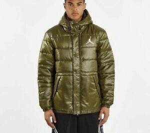 Nike Jordan Jumpman Puffer Jacket Olive/ Canvas Men's  AA1957 395 New Size M
