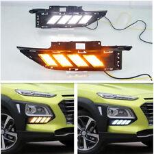 Fit For 2018 2019 Hyundai KONA Fog light Daytime Running Light DRL LED Day Light